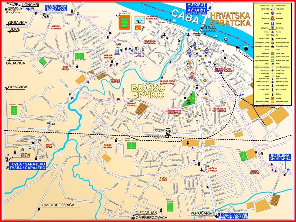 brcko mapa Mapa BRCKO   Radio Brčko distrikta BiH brcko mapa
