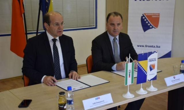 Photo of Potpisana koalicija: Demokratska fronta ide u vlast sa SDA