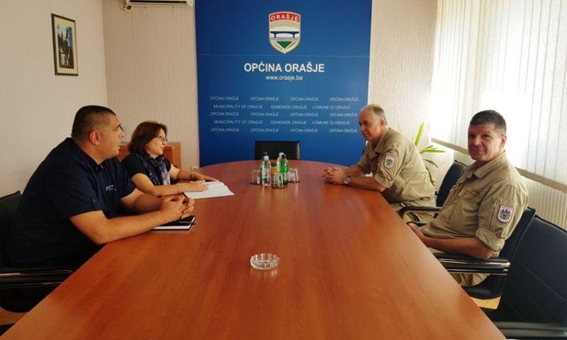 Photo of Novi zapovjednik EUFOR-a Brčko posjetio Općinu Orašje