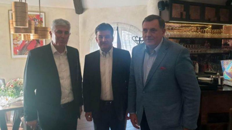 Photo of Dodik i Čović sa Lajčakom razgovarali o aktuelnoj političkoj krizi u BiH