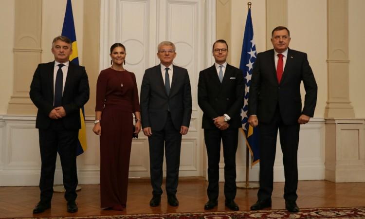Photo of Članovi Predsjedništva BiH susreli se sa švedskom princezom Victorijom