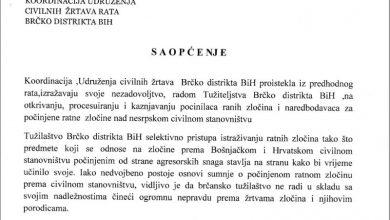 Photo of Brčko: Koordinacija Udruženja civilnih žrtava rata nezadovoljna radom Tužiteljstva