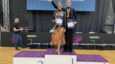 Photo of Plesni par iz Brčkog, Živojin Suvajac i Isidora Cvijetić, pobjednici Državnog prvenstva BiH u sportskim plesovima