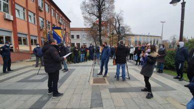 Photo of На протесту изнесени захтјеви Кризном штабу